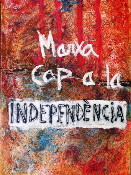 cartell de la marxa per la independencia